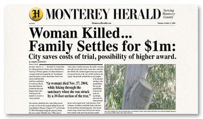 Monterey Herald 2006 City Settles for $1M
