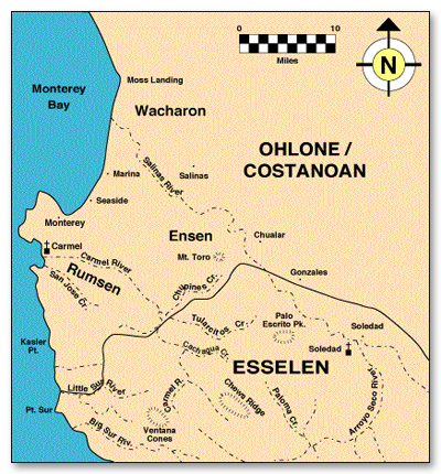 Ohlone Coastanoan Esselen Lands Map